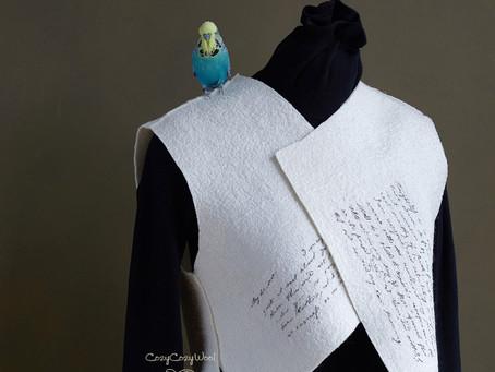 Unique Handcrafted Merino and Silk Vest