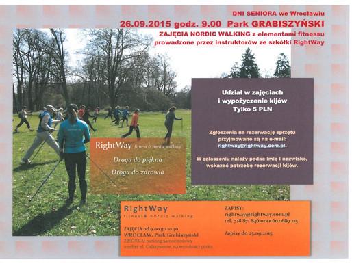 Obchodzimy DNI SENIORA - 26.09.2015 Wrocławski Park Grabiszyński