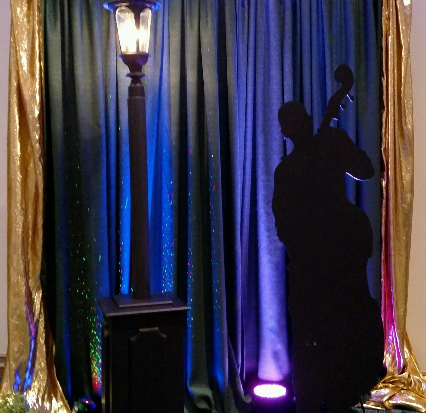 Jazz Themed Event Room Decor
