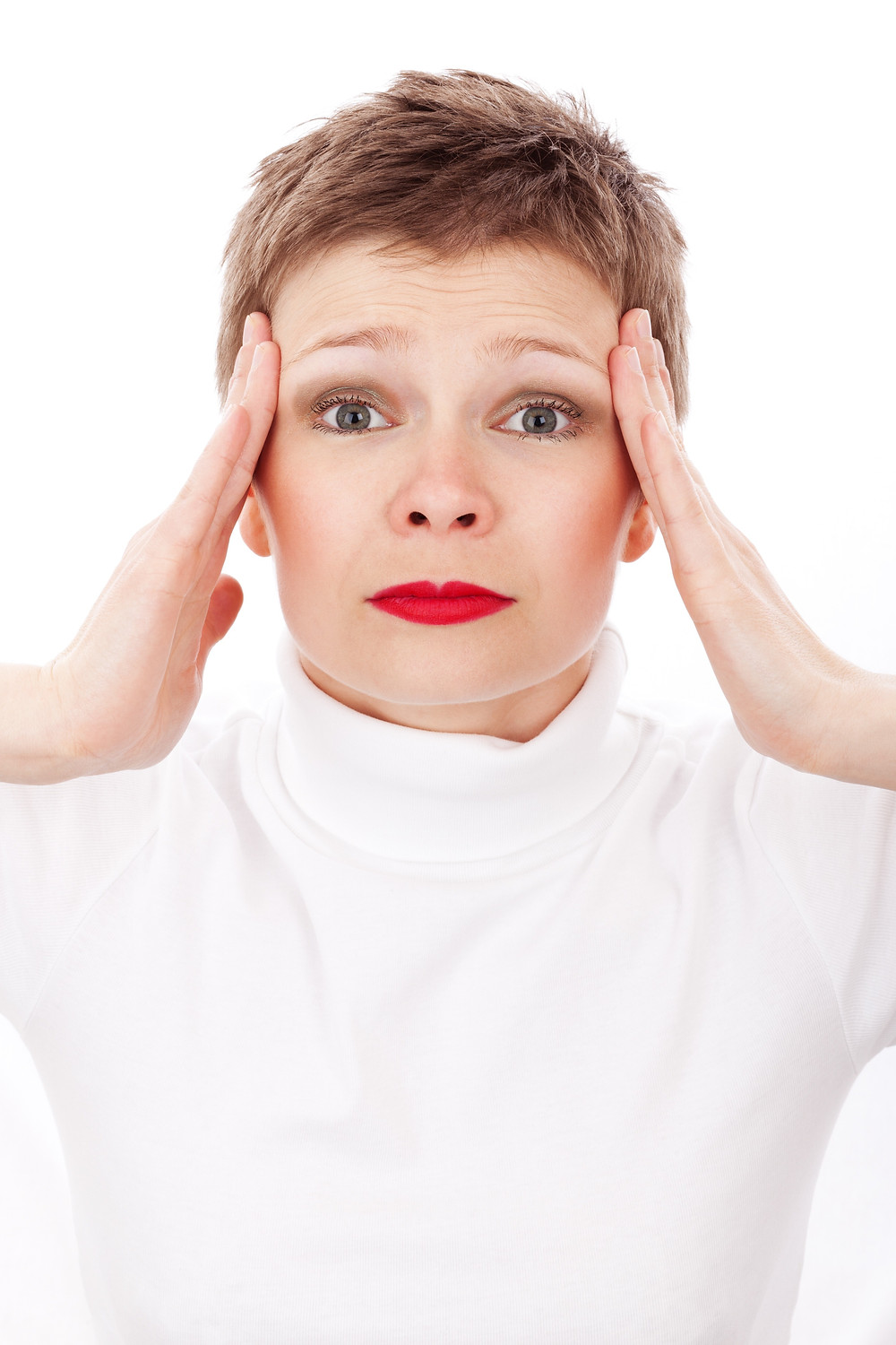 Woman with migraines
