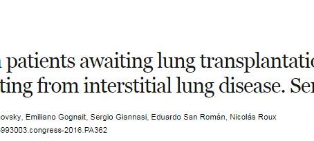 Cánula de alto flujo en pacientes en lista de espera pulmonar con falla respiratoria aguda.