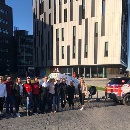 Row Britannia vehicle support enables visits to over 200 host universities and colleges in 100 days