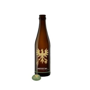 Neu wird mehrere Sorten, aber kein Lagerbier mehr geben. Im Bild ist das geplante «Bärgheu Wit», ein belgisches Weissbier, zu sehen. Es soll mit Oberhasler Wasser und Heu hergestellt werden und ist ab 1. Juni erhältlich. Bild: Christian Bachmann, Haslital Bier