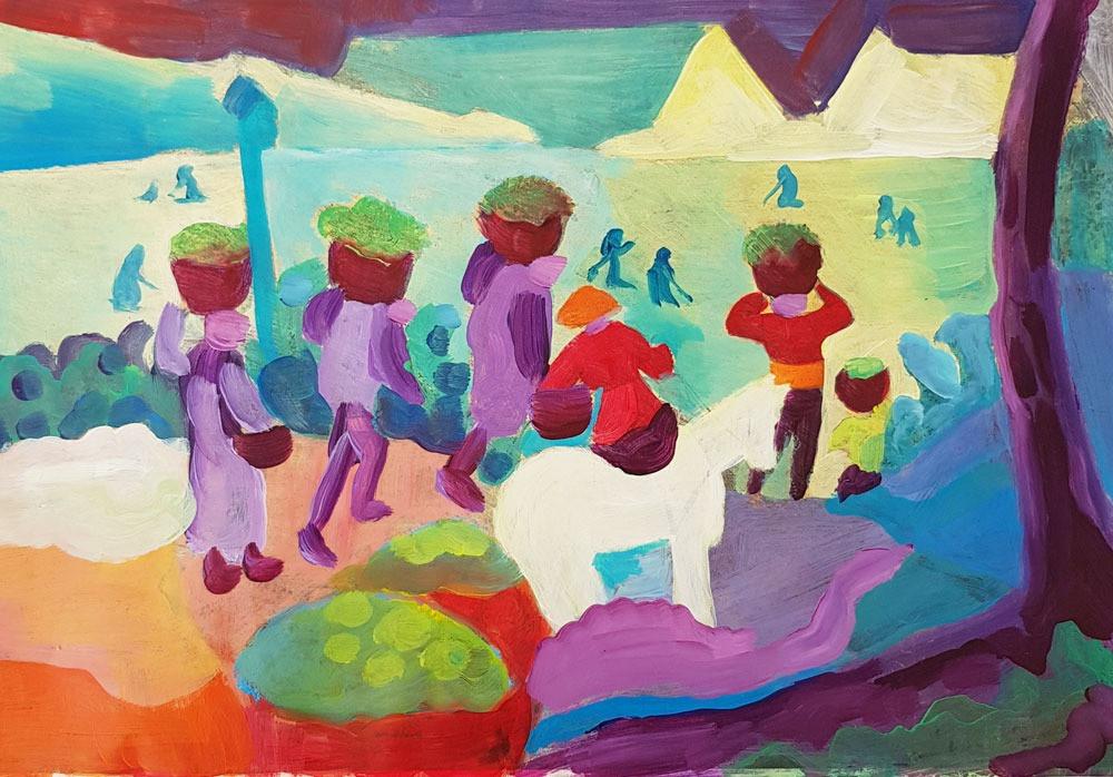Schilderij van, Linda Verholt