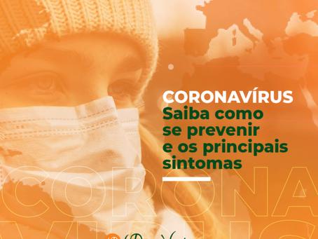 CORONAVÍRUS - Saiba como se prevenir e os principais sintomas