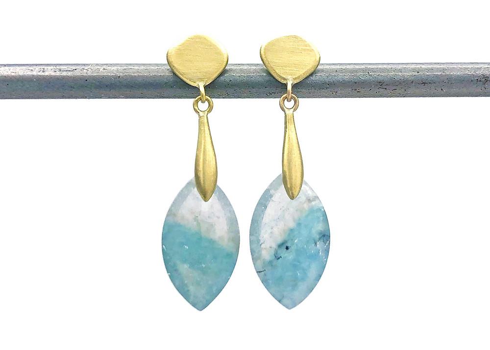 Gilalite Quartz Azores Earring | 18k Yellow Gold