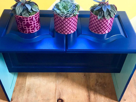 How to Upcycle Cabinet Doors into a DIY Plant Stand.
