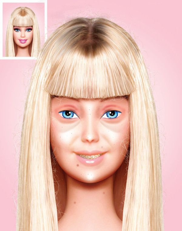 barbie in isolation with no make up on