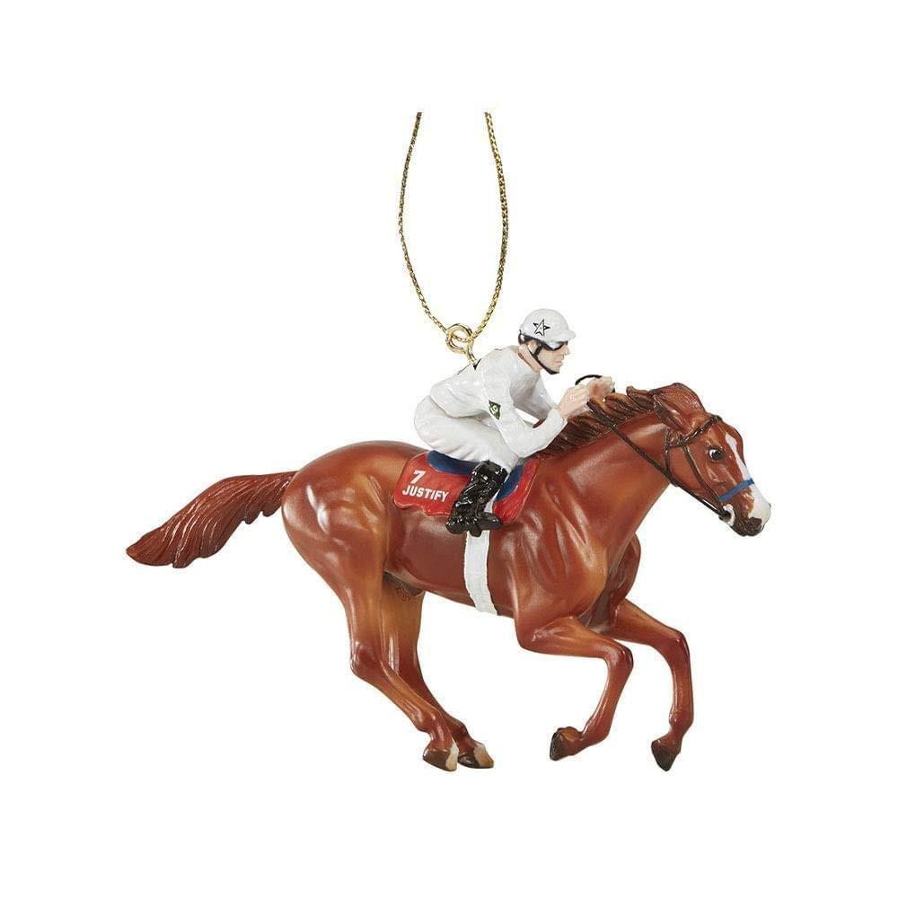 Justify, 2018 Triple Crown winner, Breyer model horse ornament