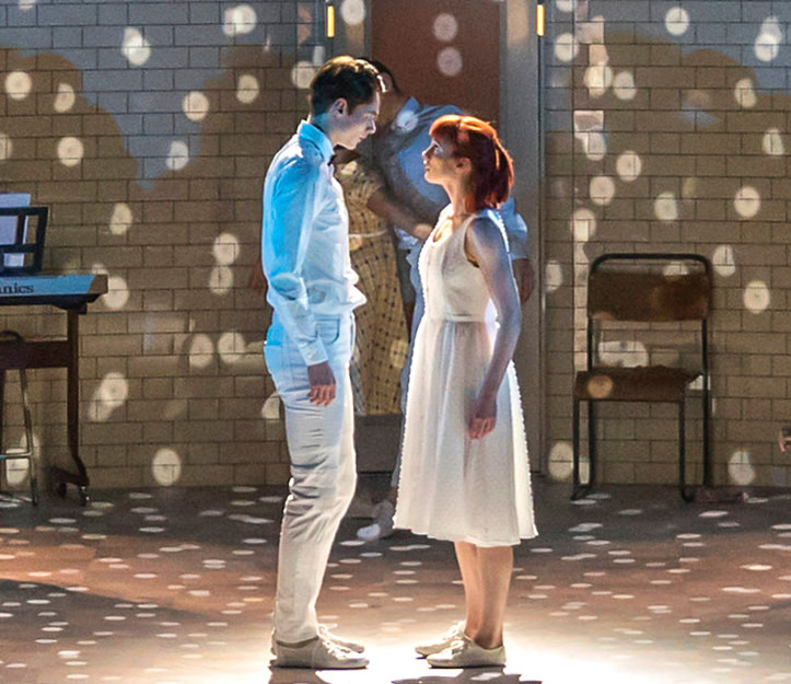 Cordelia Braithwaite and Paris Fitzpatrick in Matthew Bourne's Romeo and Juliet, the latest production from his New Adventures company, at The Lowry