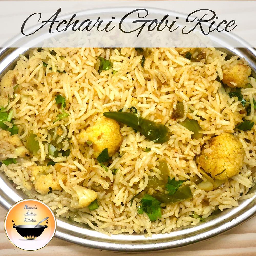 Achari Gobi Rice/Achaari Gobhi Rice/Achari cauliflower rice/Achari Gobhi/Achari Pulao recipe