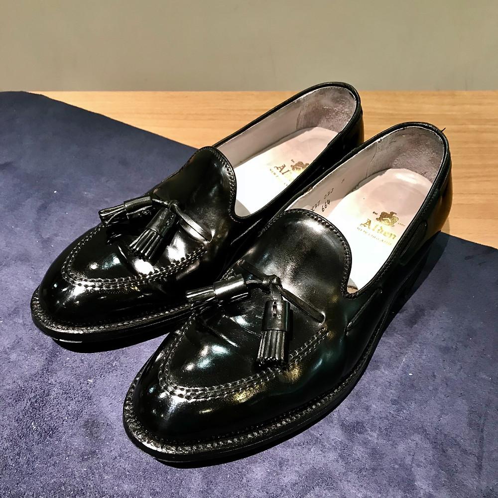 オールデンの宅配集荷靴磨き
