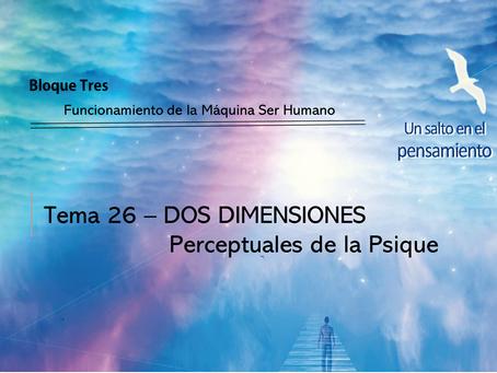 TEMA 26: DOS DIMENSIONES Perceptuales de la Psique