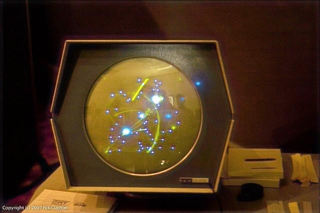 Computador PDP-1 jogo Spacewars fevereiro de 1962