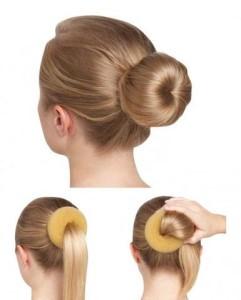 Sock bun hairstyle for dance