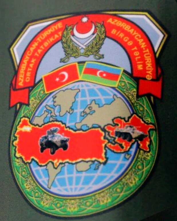 Official logo of the Turkish-Azeri military exercises of 2019. Armenia is practically wiped off the map.