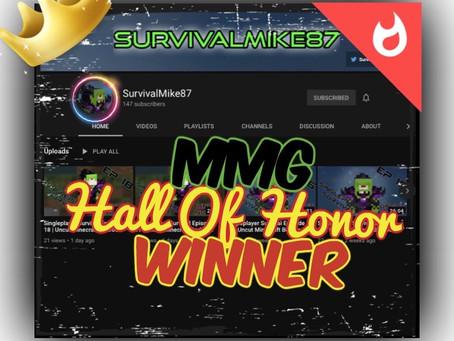 "Congratulations ""SurvivalMike87""!!!"