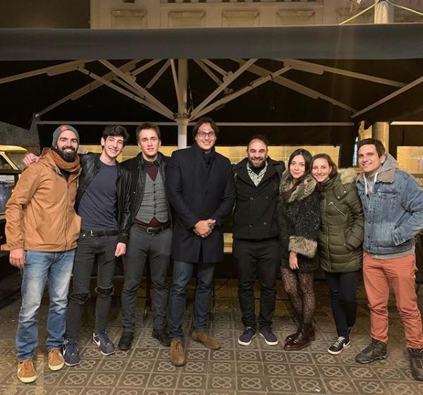 Cena de navidad con el guest experience team de Sweet BCN