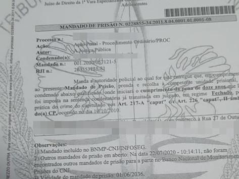 EQUIPE TUCANDEIRA PRENDE HOMEM CONDENADO PELO CRIME DE ESTUPRO