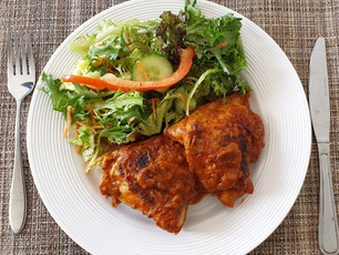 Chicken thighs with smoky Chilli Pepper sauce