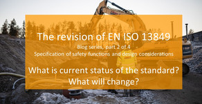 Blog series: revison of EN ISO 13849: Part 2 (Chapters 5-6)