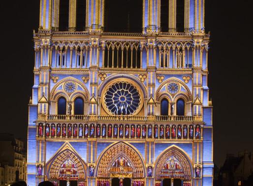 Photos de nuit : illuminations de Notre-Dame jusqu'au 25/10