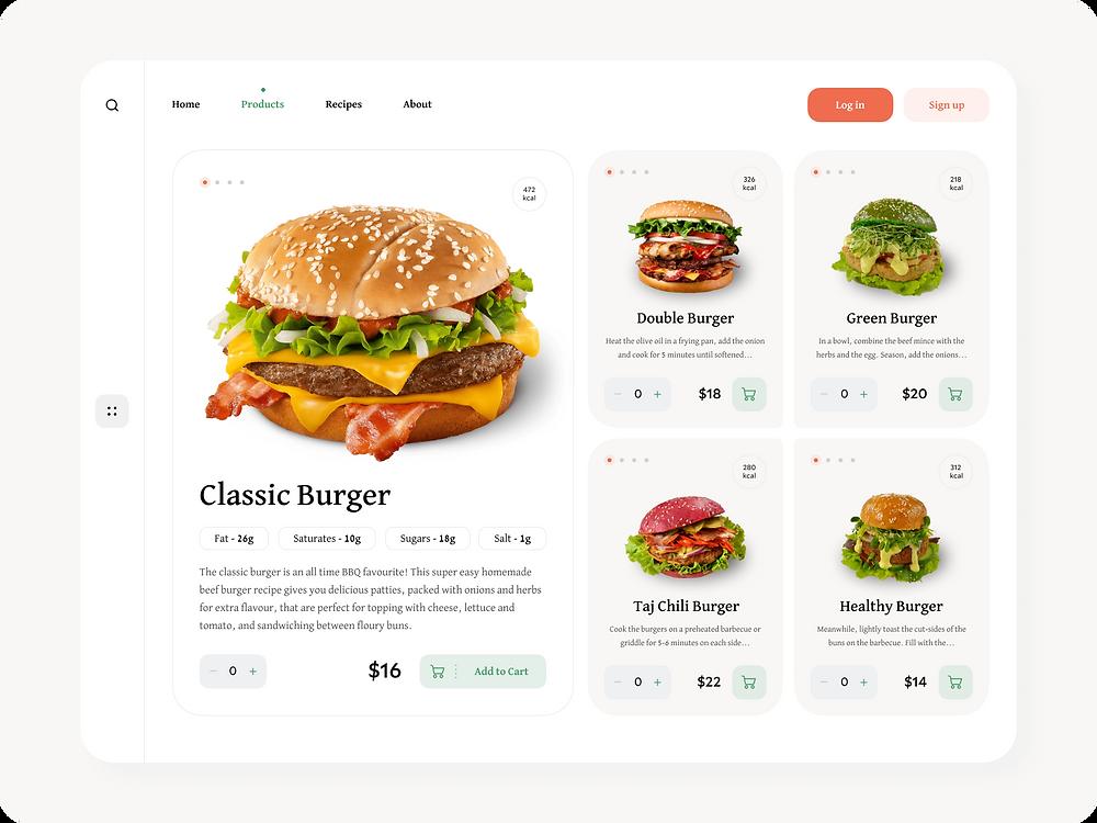Burger Restaurant UI Website