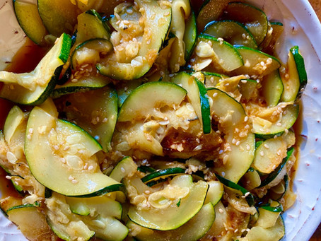 Grilled Zucchini with a Smokey Sauce