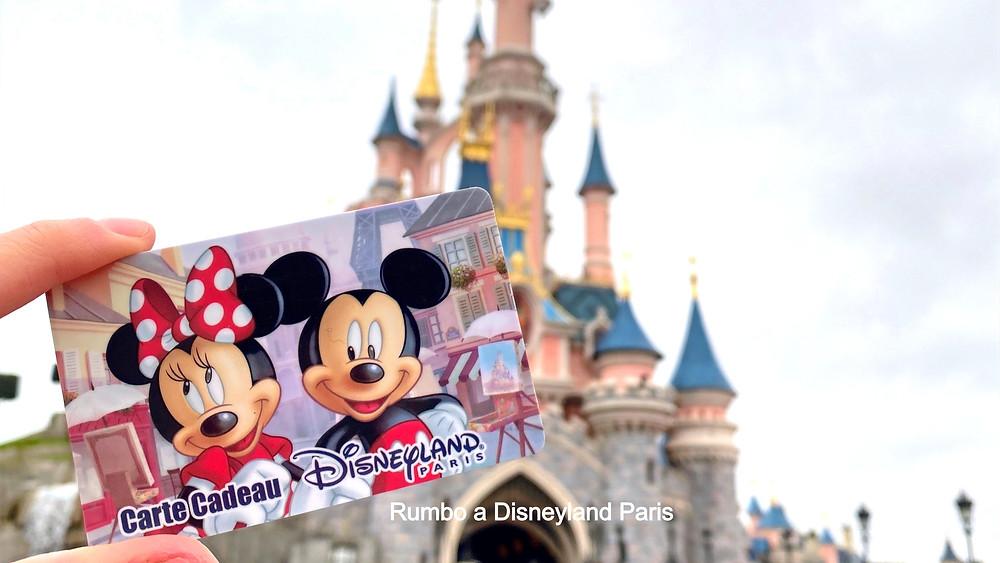 Las tarjetas regalo de Disneyland Paris Gift Card Carte Cadeau
