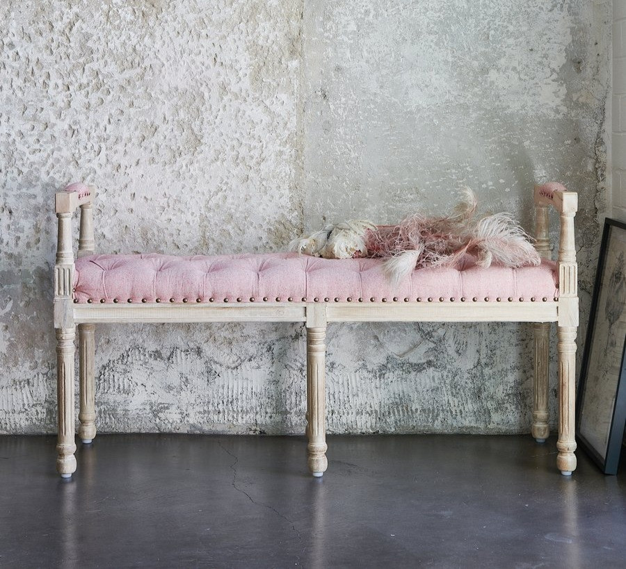 farmhouse shabby chic bench