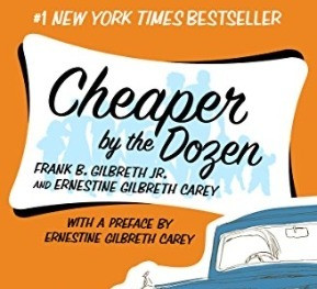 Book Review| Cheaper by the Dozen by Frank and Ernestine Gilbreth