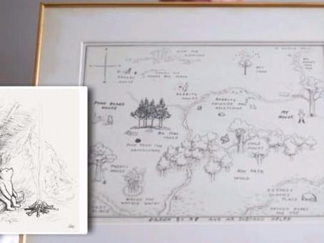 Dibujo de Winnie the Pooh rompe récord en subast