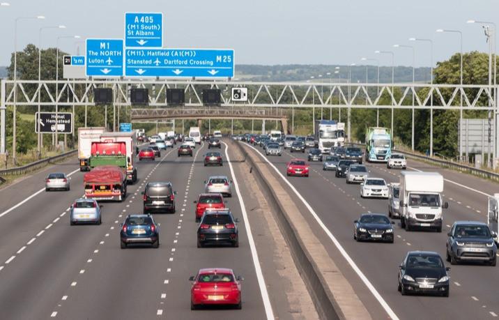 Busy British Motorway M25