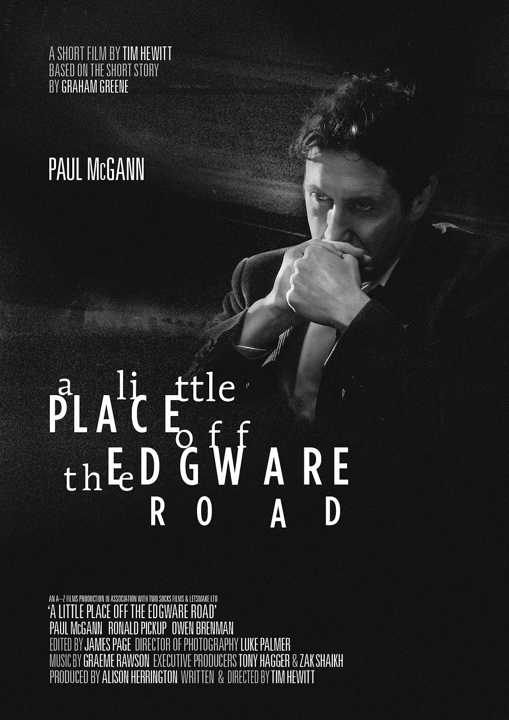 Poster for A Little Place Off The Edgware Road, showing protagonist Paul McGann.