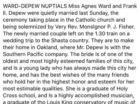 Wedding Announcement 1912