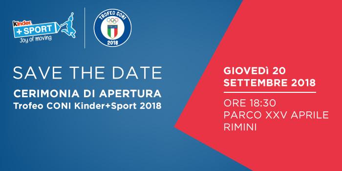 Trofeo CONI 2018, Olimpiade Italiana Under 14 Rimini
