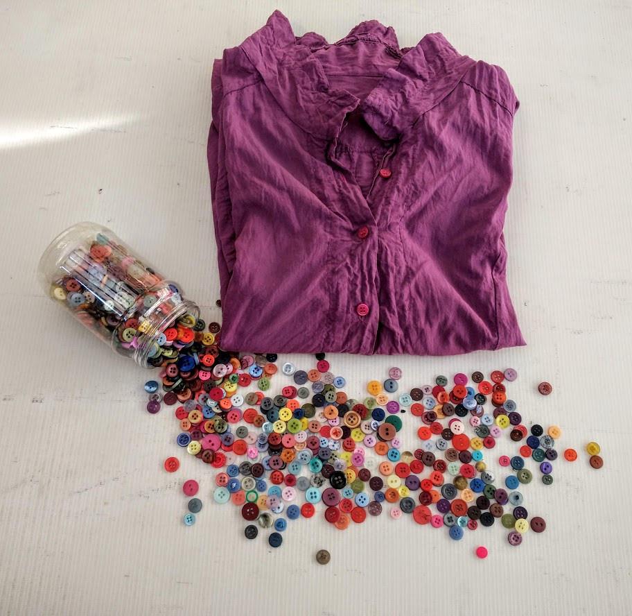 Pink/Fuschia Buttons