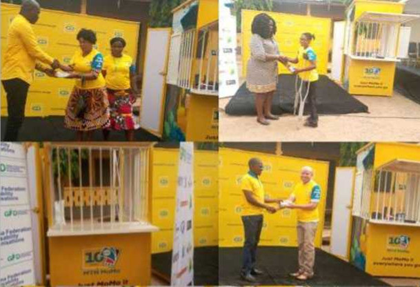 Disabled Ghanaians Receiving Things to support them  in business