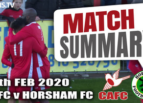 Match summary - Horsham
