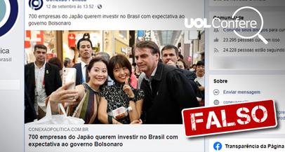 """É falso que 700 empresas japonesas querem investir no Brasil devido a """"reformas"""""""