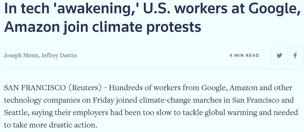 Cały artykuł przeczytacie tutaj: https://www.reuters.com/article/us-climate-change-strike-tech/in-tech-awakening-u-s-workers-at-google-amazon-join-climate-protests-idUSKBN1W52IS