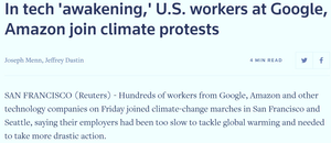 Cały artykuł przeczytacie tutaj: https://www.reuters.com/article/us-climate-change-strike-tech/in-tech-awakening-u-s-workers-at-google-amazon-join-climate-protests-idUSKBN1W52IS