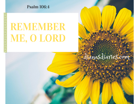 Remember me, Lord