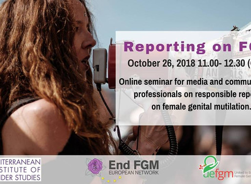 ALUMNI news:  Free webinar for FGM advocates! Register Now!