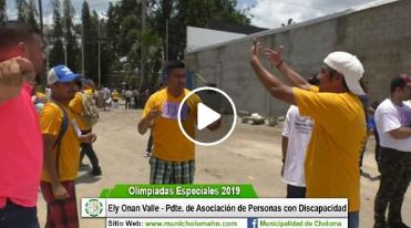 Ely Onan Valle presidente del Comité de Olimpiadas Especiales 2019.