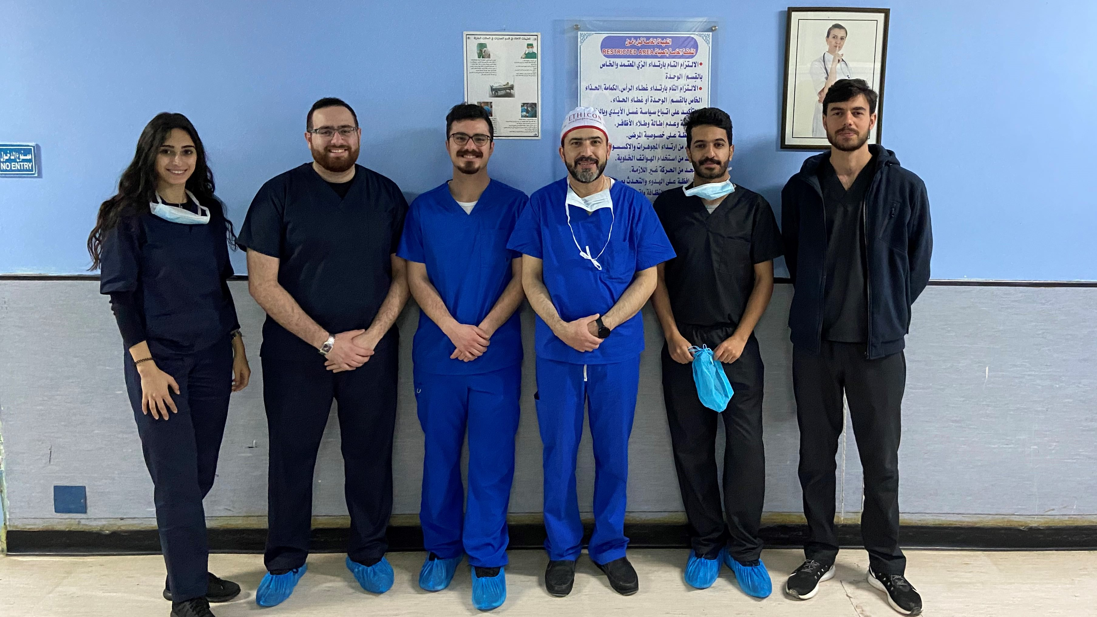 In OR with 4th-year medical students - 26 Feb. 2020