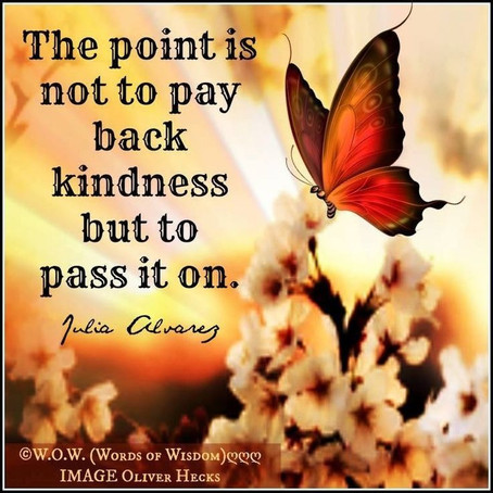 Being a pixie, paying it forward, random acts of kindness