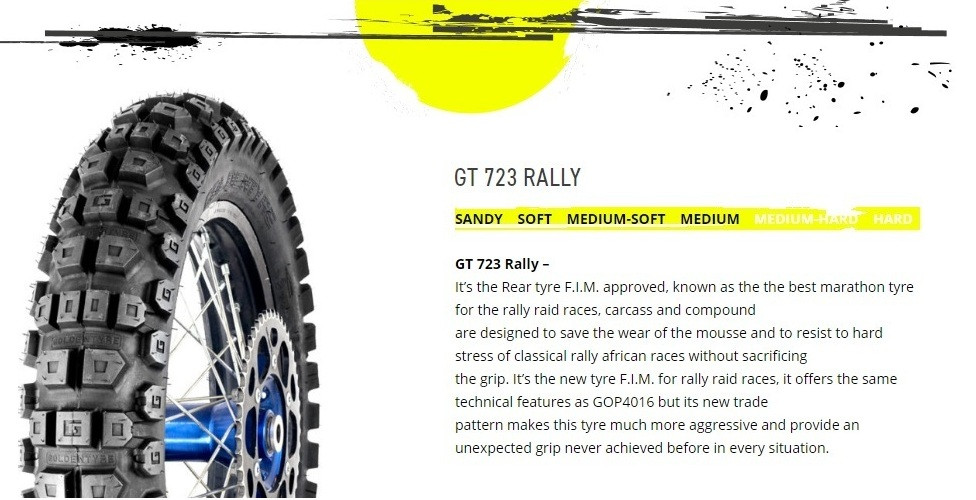 See previous post about the GT723 tyres