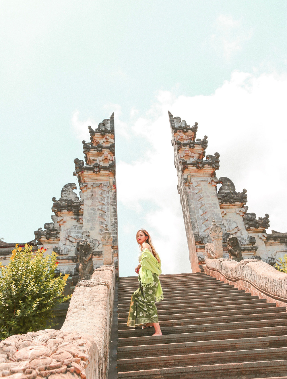 the steps up to the Lempuyang Temple