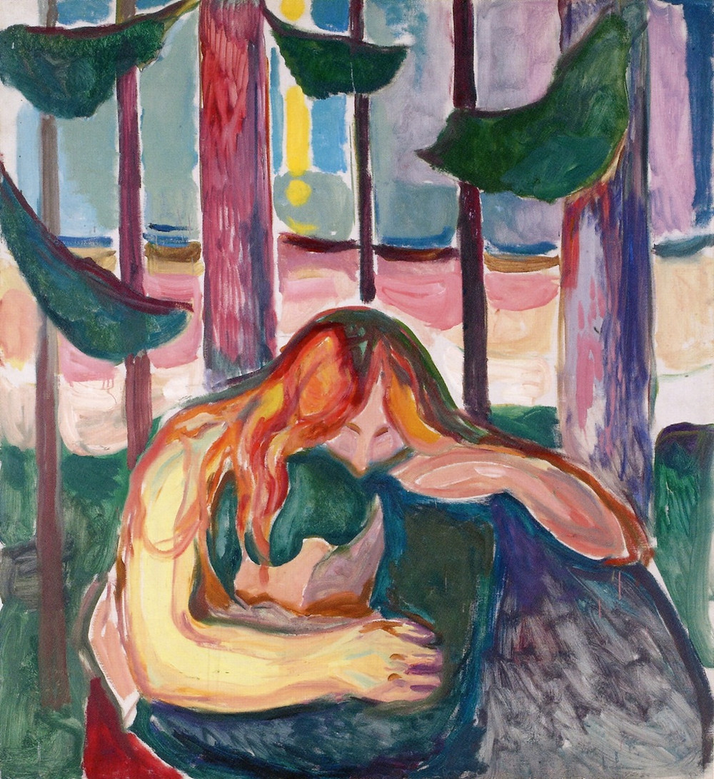 Edvard Munch, Love & Pain in the Forest, 1916-18
